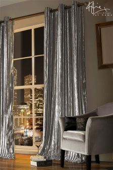 Kylie Alexa Iliana Silver Curtains