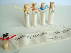 Items similar to Set of TWO Secret message in a bottle - Will you be my bridesmaid, maid of honor, matron of honor on Etsy Asking Bridesmaids, Bridesmaids And Groomsmen, Will You Be My Bridesmaid, Cute Wedding Ideas, Gifts For Wedding Party, Party Gifts, Wedding Stuff, Wedding Inspiration, Wedding Themes