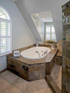 slate bathroom ideas | Slate Travertine Bathroom Design, Pictures, Remodel, Decor and Ideas ...