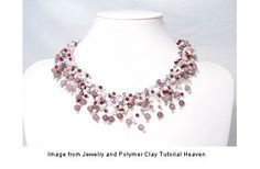 Free Jewelry Tutorials | Free crystal feathers necklace tutorial · Jewelry Making ...