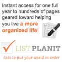 Easy lists to make your life more organized and also to schedule your closet and shoe organizing!