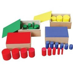 Montessori Knobless Cylinders (Set of 4)
