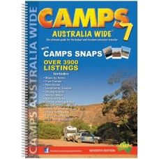 Camps 7 is the latest directory from Camps Australia Wide, and is now more comprehensive than ever. Camps 7 contains over 3900 listings, including free camps, rest areas, community camps, showgrounds, station stays, national parks, state forests & parks, remote caravan parks, dump points and pet friendly sites. Attached to many of the listings are Camp Snaps, a handy photo that gives tourers and campers insight into what the site actually looks like.