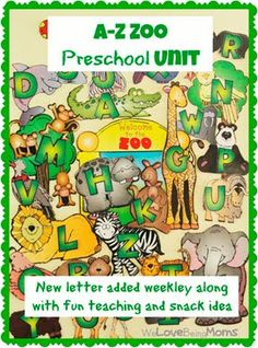 A-Z Zoo Animals Preschool Unit: focuses on the 26 letters of the alphabet and the sounds they make. Goes through a letter a week along with a theme to help kids prepare for school.