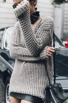 pinterest: @esib123  chunky sweater for fall weather