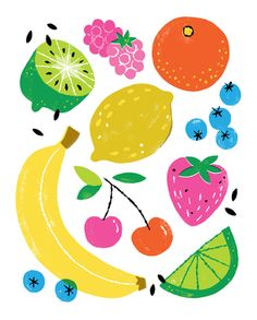 Fruit Chart Art Print | www.shophooraytoday.com