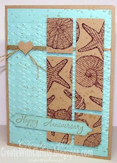 Stampin' Up! By the Seashore & Memorable Moments masculine card - Create With Christy - Christy Fulk, Stampin' Up! Demo