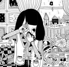 shenzhen-based illustrator Qin Ting #contemporary #eastasian