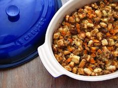 For your next holiday, try making this Sage, Sausage and Butternut Squash Stuffing. This recipe makes for one of the most delightfully flavorful holiday stuffing recipes, especially when made the night before (this allows all of the flavors to mix). Stuffing Recipes For Thanksgiving, Thanksgiving Side Dishes, Sausage Stuffing, Low Sodium Chicken Broth, Vegetable Dishes, Vegetable Pizza, Butternut Squash, Slow Cooker Recipes