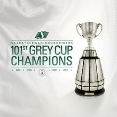 November 24 / 2013 Congratulations Ridernation, your Saskatchewan Roughriders are now the Grey Cup Champions! Go Rider, Saskatchewan Roughriders, Cupping At Home, Canadian Football League, Grey Cup, I Am Canadian, Saskatchewan Canada, Rough Riders, Basketball Teams