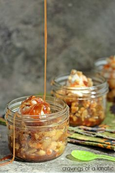 Fried Apples with Apple Caramel Sauce | Cravings of a Lunatic |