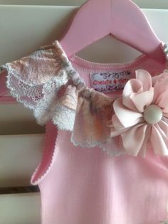 Chelsie&Spice - Handmade Baby Girls Vintage Style Singlet top size 1 NEW w tags
