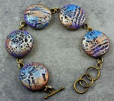 Butterfly Wings bracelet - polymer clay by Stories They Tell, via Flickr