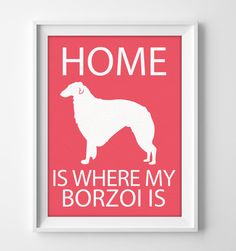 "8x10"" Borzoi Wall Art, Russian Wolfhound, Illustrated Dog Art, Borzoi Decor, Dog Breed Wall Art, Borzoi Gift, Puppy Print, Hound Art by pigknit on Etsy"