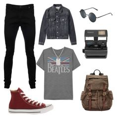 """high"" by selma-dautovic ❤ liked on Polyvore featuring JEM, Converse, Impossible, FOSSIL, Polaroid, Loren Stewart, Acne Studios, Vivienne Westwood Anglomania, men's fashion and menswear"