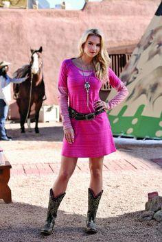 country western girl fashion | Cruel Girl Western Dress Womens Scoop Neck Raglan