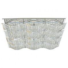 Prostokątny plafon kryształowy Spindle - LampyTanie - 1965,19 PLN