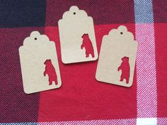 Die Cut Standing Bear Tag by NatureCuts on Etsy