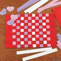 Valentine Weaving Place Mat Craft Kit. Valentines Day crafts for kids.