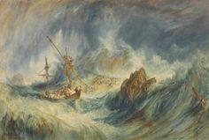 J.M.W.Turner - A Storm (Shipwreck), 1823.