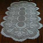 Christmas Tree Table Runner Free Filet Crochet Pattern