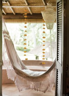 Hammocks; a great way to add a sense of relaxation and luxury to a room!