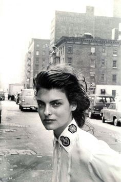 A Flashback to the ASPESI world  Autumn Winter 1988-89  (New York) Linda Evangelista by Peter Lindbergh