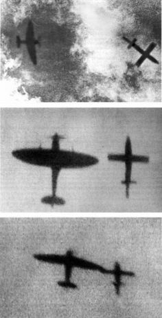 "Spitfire ""tipping-off"" a V1, and 36 other rare WW II pictures. Can you imagine the bravery and the skill involved in pulling off this ""stunt""?"