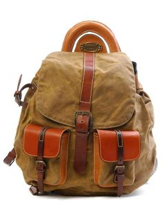 Falcon2 Canvas Backpack (Rust and Brown)