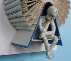 Thinker under Tree on Claybord (Original Sculpture)