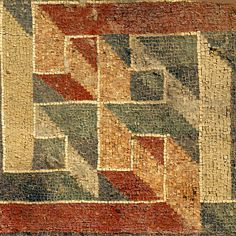 Motivo geometrico (IV sec d.C.) - Villa del Tellaro, Noto (Siracusa)