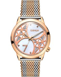 BREEZE Chatoyant Rose Gold Stainless Steel Bracelet 710821.4