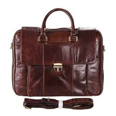 Classical personality leather briefcase
