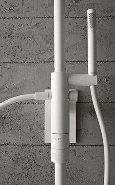 ZAZZERI SHOWER Colonna doccia a parete termostatica con soffione in ottone cromato CRCR o metallo bianco 1010 o nero 3131