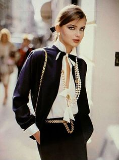 Chanel, Spring/Summer 1982  Model: Paulina Porizkova