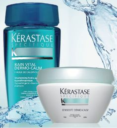 KERASTASE Dermo-Calm Bain Vital, Dermo-Calm Masque Sensidote... designed to  relieve scalp from sensitivity and sooth itchiness, redness, tingling, and/or burning sensations