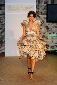 642af739ce8a0 Eco-Designers Unveil Newspaper Fashions at Yesterday s News Event