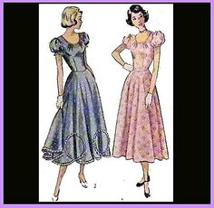 Vintage Simplicity 2428 Sewing Pattern1940s PARTY DRESS Size Medium Bust 34 - For sale on Ruby Lane $9.00