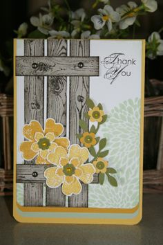 Spring inspired challenge - Vicki Hodgman (Qld. Australia),I have another Spring inspired card even though it is actually Autumn here. LOL. Yellow and green again. Daffodil Yellow, Crushed Curry, Pistachio Pudding, Old Olive, Whisper White, Crumbcake. Stamps: Hardwood, Betsy's Blossoms, Flower shop, petite petals, Blooming with Kindness. The little flowers are from a retired SU punch. More info on my…