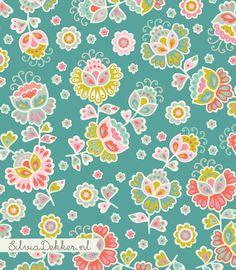 Floral pattern by Silvia Dekker. Instagram: @silviadekker