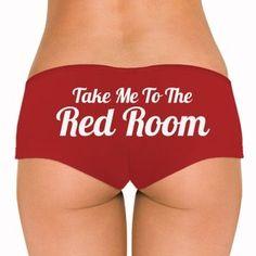 50 shades of grey red room underwear panties