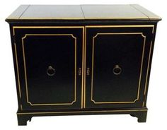 Ebonized Bar  Cabinet | Cheers! | One Kings Lane
