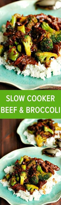 Easy Slow Cooker Broccoli Beef - so much healthier and tastier than takeout! #slowcooker #beef #broccoli #easyrecipes #breakfast