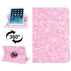For+iPad+Air+Rotatable+Pink+Embossed+Flower+Smart+Cover+Leather+Case+with+2+Gears+Holder