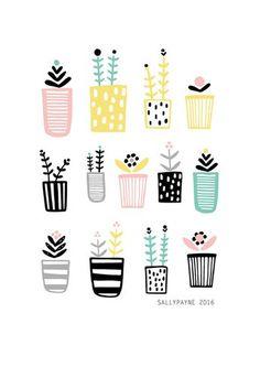 Plants Patterns by Sally Payne #patterndesign #patterns #minimalistpatterns
