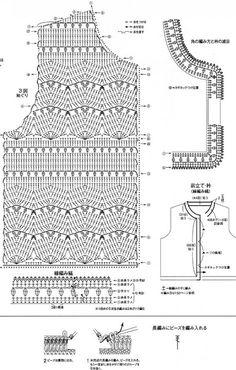 T-shirt Au Crochet, Crochet Pincushion, Crochet Bolero, Pull Crochet, Gilet Crochet, Crochet Dog Sweater, Crochet Shirt, Crochet Jacket, Crochet Diagram