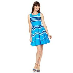 Taylor Jacquard Stripe Sleeveless Dress