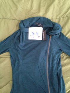 #stitchfix Alan cowl neck asymmetrical jacket. - I hate turtle necks but this is a nice alternative