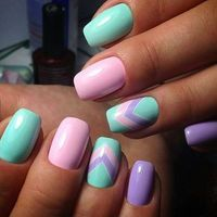 There are three kinds of fake nails which all come from the family of plastics. Acrylic nails are a liquid and powder mix. They are mixed in front of you and then they are brushed onto your nails and shaped. These nails are air dried. Easter Nail Designs, Best Nail Art Designs, Nail Designs Spring, Mint Nail Designs, Spring Nail Art, Spring Nails, Summer Nails, Summer Holiday Nails, Pretty Nails For Summer