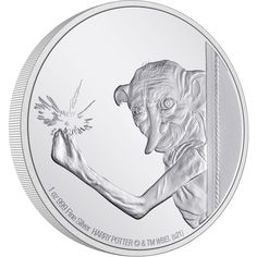 Loyal friend of Harry Potter, Dobby the House Elf is next to feature in our HARRY POTTER™ Classic Coin Collection. This beautifully engraved 1oz silver coin shows Dobby using his magic to apparate in Harry Potter and the Chamber of Secrets™. Disney Stars, Effigy, Dobby, Coin Collecting, Silver Coins, Elf, Harry Potter, Pure Products, Legal Tender